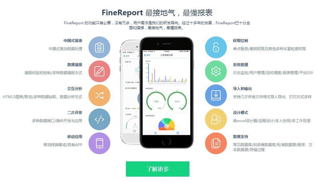 FineReport报表设计功能优势在哪里?