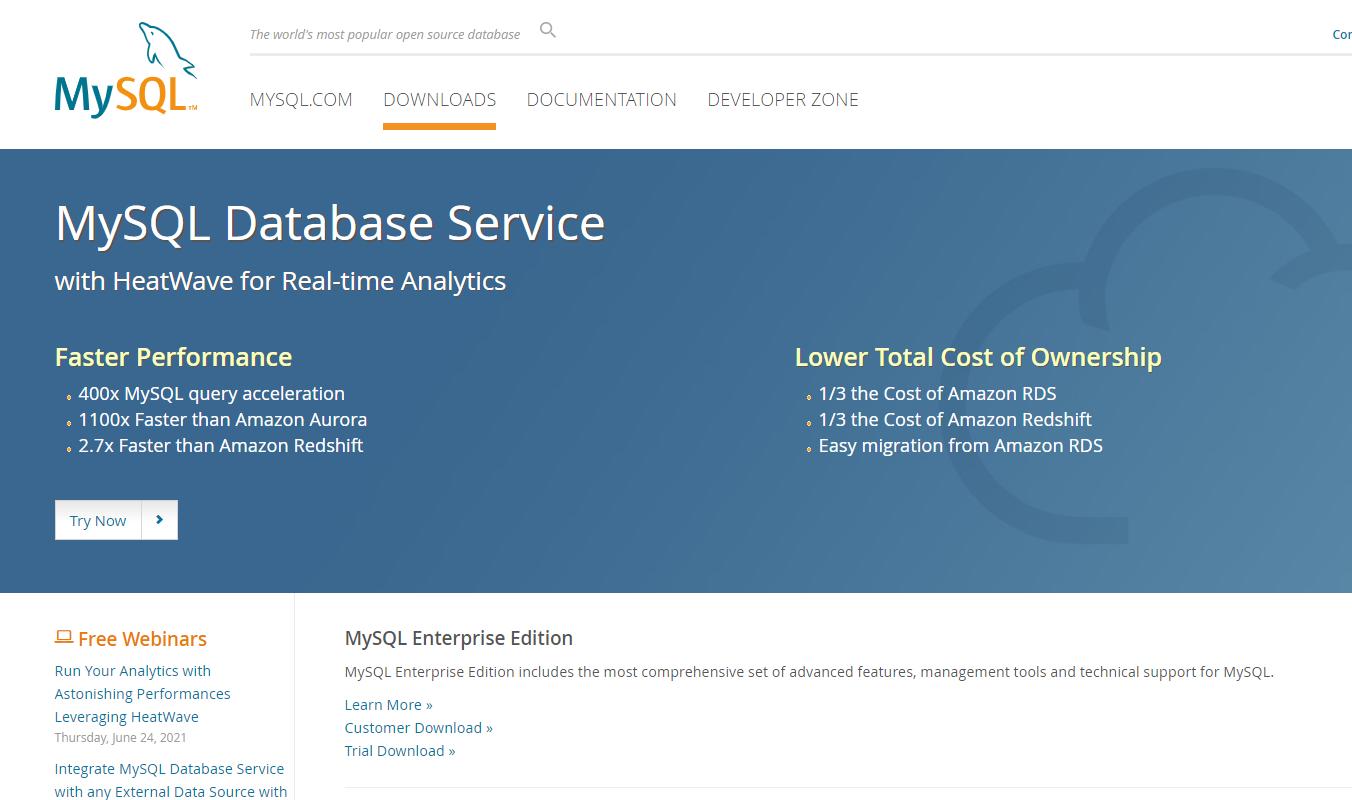 MySQL数据库下载与安装